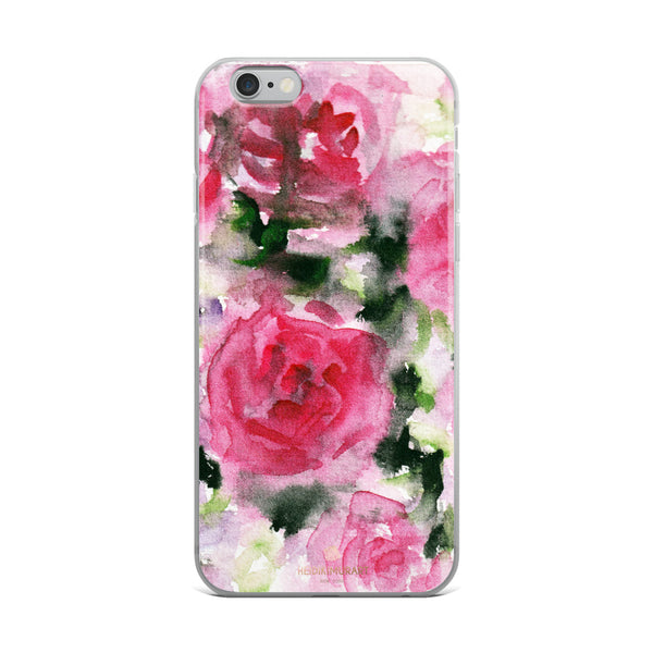 Pink Rose Floral Watercolor, iPhone X | XS | XR | XS Max | 8 | 8+ | 7| 7+ |6/6S | 6+/6S+ Case- Made in USA-Phone Case-iPhone 6 Plus/6s Plus-Heidi Kimura Art LLC