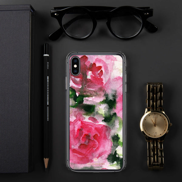 Spring French Pink Princess Rose Floral Print Girlie Cute iPhone Case - Made in USA-Phone Case-iPhone XS Max-Heidi Kimura Art LLC