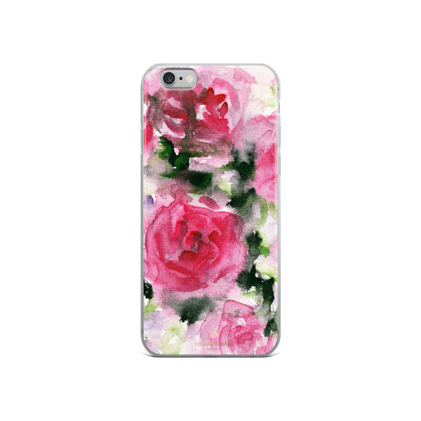 Pink Rose Floral Watercolor, iPhone X | XS | XR | XS Max | 8 | 8+ | 7| 7+ |6/6S | 6+/6S+ Case- Made in USA-Phone Case-iPhone 6/6s-Heidi Kimura Art LLC