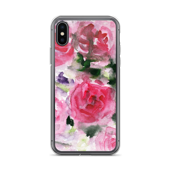 Pink French Rose Bouquet, iPhone X | XS | XR | XS Max | 8 | 8+ | 7| 7+ |6/6S | 6+/6S+ Case- Made in USA-Phone Cases-iPhone X-Heidi Kimura Art LLC