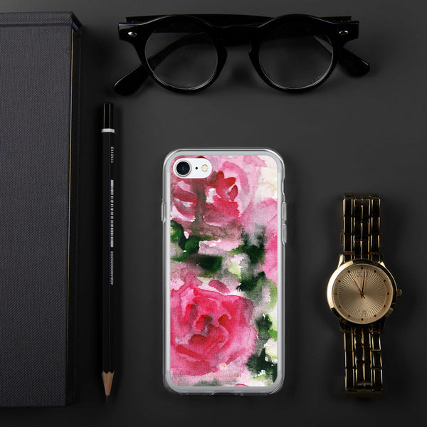 Spring French Pink Princess Rose Floral Print Girlie Cute iPhone Case - Made in USA-Phone Case-iPhone 7/8-Heidi Kimura Art LLC