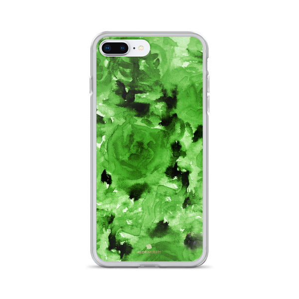 Emerald Green Floral Rose, iPhone X | XS | XR | XS Max | 8 | 8+ | 7| 7+ |6/6S | 6+/6S+ Case- Made in USA-Phone Case-iPhone 7 Plus/8 Plus-Heidi Kimura Art LLC