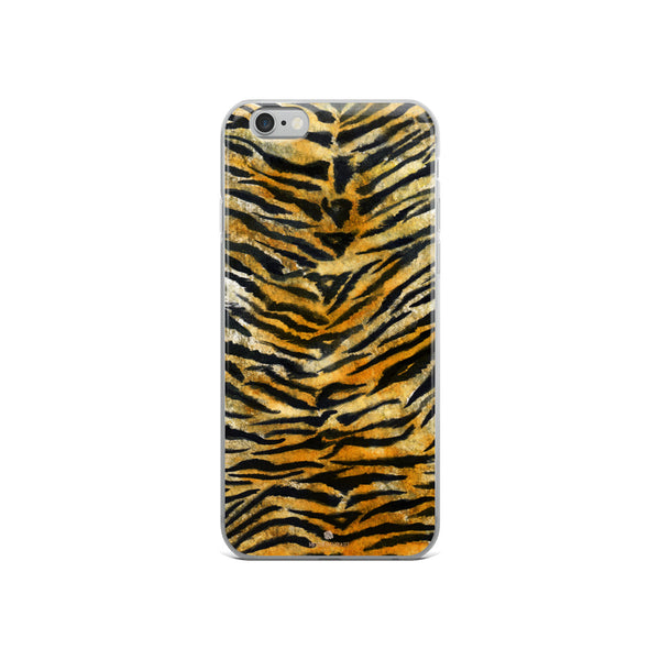 Faux Tiger Stripe Print, iPhone X | 8 | 8+ | 7| 7+ |6/6S | 6+/6S+ Case- Made in USA/Europe-Phone Case-iPhone 6/6s-Heidi Kimura Art LLC