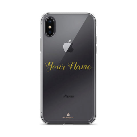 Custom Calligraphy Handwriting Name Personalized Phone Clear iPhone Case-Phone Case-iPhone X/XS-Heidi Kimura Art LLC