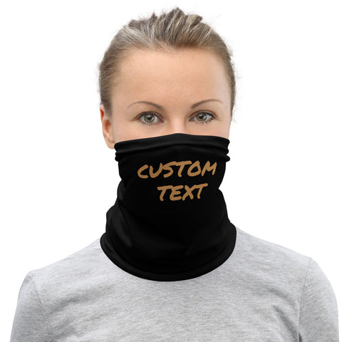 Custom Name/ Text Face Covering, Create Your Special Unique Personalized Face Mask, Washable Custom Image Luxury Premium Quality Cool And Cute One-Size Reusable Washable Scarf Headband Bandana - Made in USA/EU, Face Neck Warmers, Non-Medical Breathable Face Covers, Neck Gaiters