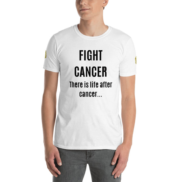 Fight Cancer Slogan Designer Short-Sleeve 100% Ringspun Cotton Pre-shrunk Unisex T-Shirt, (US Size: S-3XL)