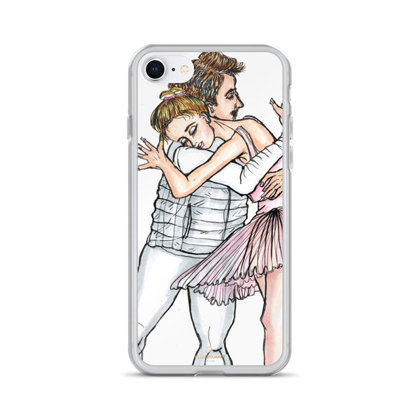 Dancing Ballet Couple, iPhone X | XS | XR | XS Max | 8 | 8+ | 7| 7+ |6/6S | 6+/6S+ Case- Made in USA-Phone Case-iPhone 7/8-Heidi Kimura Art LLC