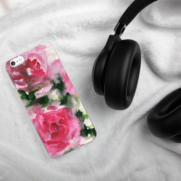 Spring French Pink Princess Rose Floral Print Girlie Cute iPhone Case - Made in USA-Phone Case-iPhone 11-Heidi Kimura Art LLC
