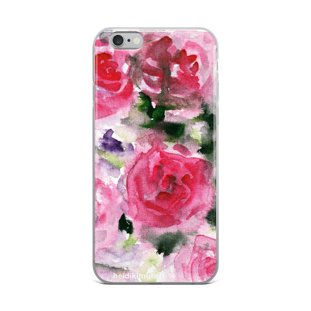 Pink French Rose Bouquet, iPhone X | XS | XR | XS Max | 8 | 8+ | 7| 7+ |6/6S | 6+/6S+ Case- Made in USA-Phone Cases-iPhone 6 Plus/6s Plus-Heidi Kimura Art LLC