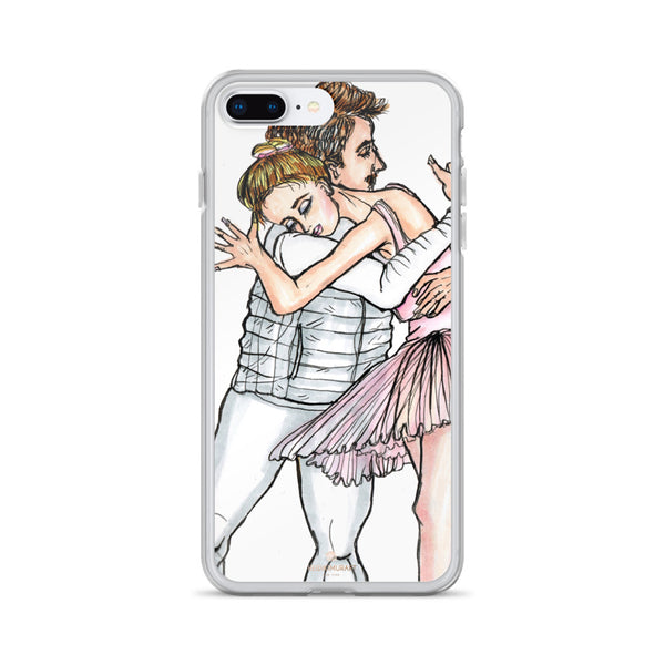 Dancing Ballet Couple, iPhone X | XS | XR | XS Max | 8 | 8+ | 7| 7+ |6/6S | 6+/6S+ Case- Made in USA-Phone Case-iPhone 7 Plus/8 Plus-Heidi Kimura Art LLC
