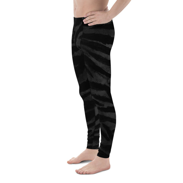 Black Tiger Stripe Men's Leggings, Men's Yoga Pants Running Long Tights- Made in USA/EU-Men's Leggings-Heidi Kimura Art LLC Black Tiger Stripe Meggings, Boss Black Tiger Stripe Animal Print Men's Yoga Pants Running Leggings & Tights- Made in USA/ Europe (US Size: XS-3XL) Tiger Leggings, Tiger Stripe Pants, Tiger Stripe Mens Running Fitness Tight Leggings, Meggings, Tiger Stripe Leggings, Tiger Workout Leggings, Tiger Stripe Print Leggings