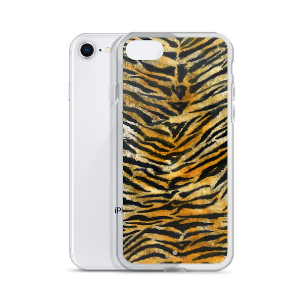 Faux Tiger Stripe Print, iPhone X | 8 | 8+ | 7| 7+ |6/6S | 6+/6S+ Case- Made in USA/Europe-Phone Case-Heidi Kimura Art LLC