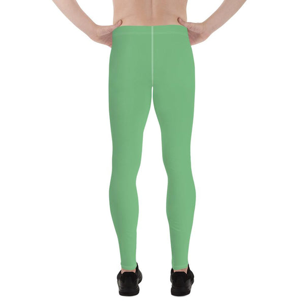 Fern Green Meggings Compression Men Tights Comfy Men's Premium Best Leggings-Men's Leggings-Heidi Kimura Art LLC