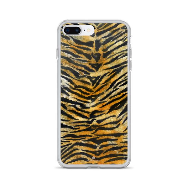 Faux Tiger Stripe Print, iPhone X | 8 | 8+ | 7| 7+ |6/6S | 6+/6S+ Case- Made in USA/Europe-Phone Case-iPhone 7 Plus/8 Plus-Heidi Kimura Art LLC