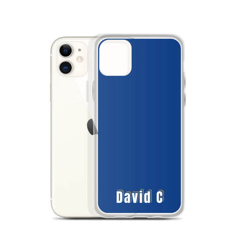 Custom Name Modern Solid Blue Color Premium iPhone Case-Made in USA-Phone Case-Heidi Kimura Art LLC