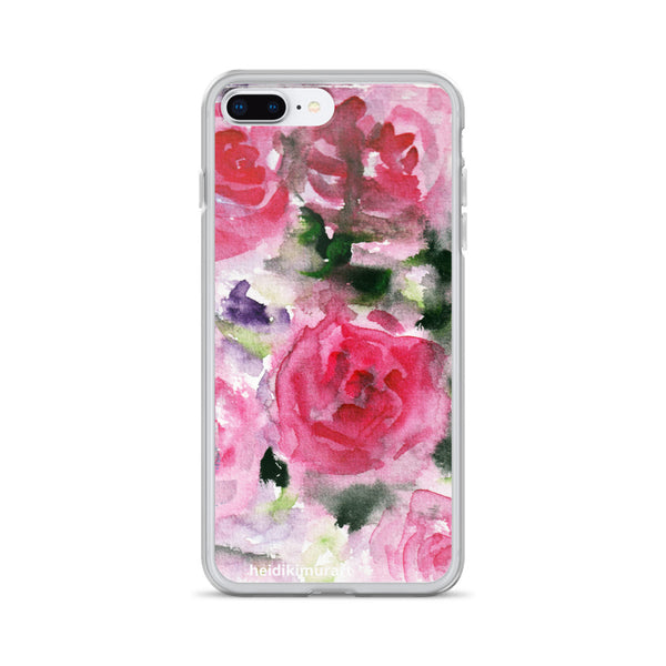 Pink French Rose Bouquet, iPhone X | XS | XR | XS Max | 8 | 8+ | 7| 7+ |6/6S | 6+/6S+ Case- Made in USA-Phone Cases-iPhone 7 Plus/8 Plus-Heidi Kimura Art LLC
