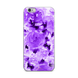 Royal Purple Rose Floral, iPhone X | XS | XR | XS Max | 8 | 8+ | 7| 7+ |6/6S | 6+/6S+ Case- Made in USA-Phone Case-iPhone 6 Plus/6s Plus-Heidi Kimura Art LLC