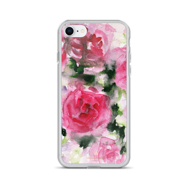 Pink Rose Floral Watercolor, iPhone X | XS | XR | XS Max | 8 | 8+ | 7| 7+ |6/6S | 6+/6S+ Case- Made in USA-Phone Case-iPhone 7/8-Heidi Kimura Art LLC