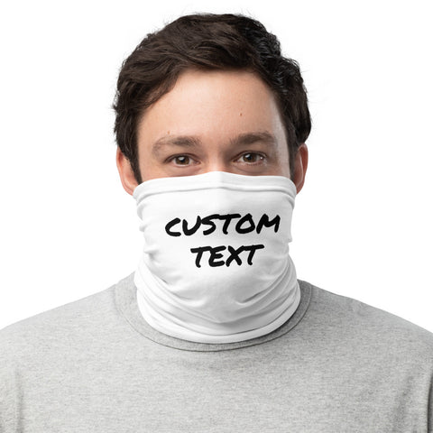 Custom Name/ Text Face Covering, Create Your Special Unique Personalized Face Mask, Washable Custom Image Luxury Premium Quality Cool And Cute One-Size Reusable Washable Scarf Headband Bandana - Made in USA/EU, Face Neck Warmers, Non-Medical Breathable Face Covers, Neck Gaiters    This cool and premium quality US-Made/ EU-Made personalize