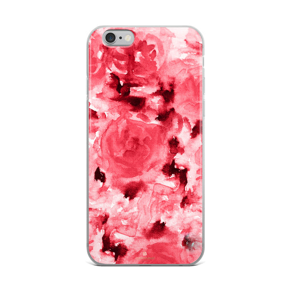 Ruby Red Rose Floral, iPhone X | XS | XR | XS Max | 8 | 8+ | 7| 7+ |6/6S | 6+/6S+ Case- Made in USA-Phone Case-iPhone 6 Plus/6s Plus-Heidi Kimura Art LLC