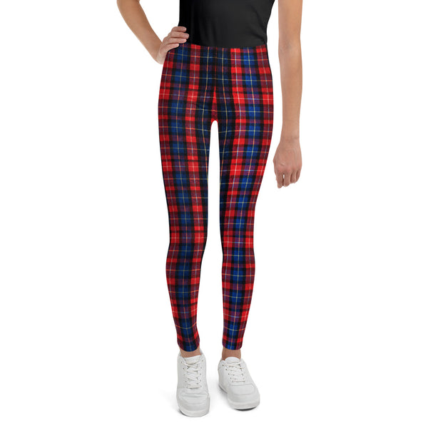 907dc73d82490 Akio Girl Bottoms Winter Essentials Red Plaid Sports Gym Youth Leggings,  Made in USA