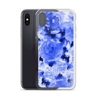 Arata Sapphire Blue Floral ROse, iPhone X | 8 | 8+ | 7| 7+ |6/6S | 6+/6S+ Case-Made in USA