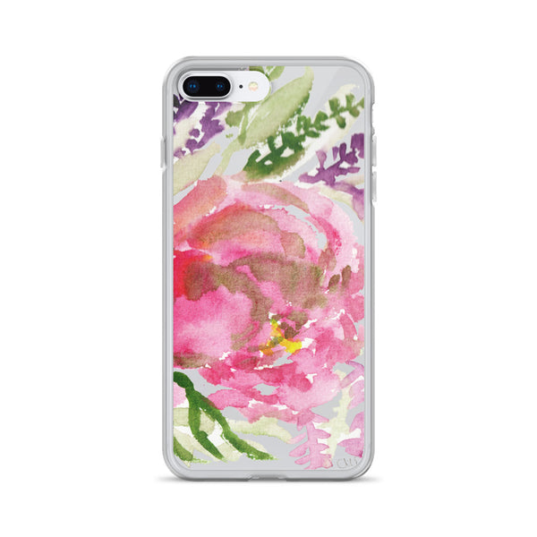 Light Pink Rose Flower Girlie Floral Print, iPhone Cellphone Phone Case- Made in USA-Phone Case-iPhone 7 Plus/8 Plus-Heidi Kimura Art LLC