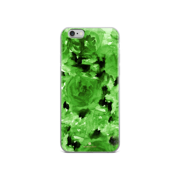 Emerald Green Floral Rose, iPhone X | XS | XR | XS Max | 8 | 8+ | 7| 7+ |6/6S | 6+/6S+ Case- Made in USA-Phone Case-iPhone 6/6s-Heidi Kimura Art LLC