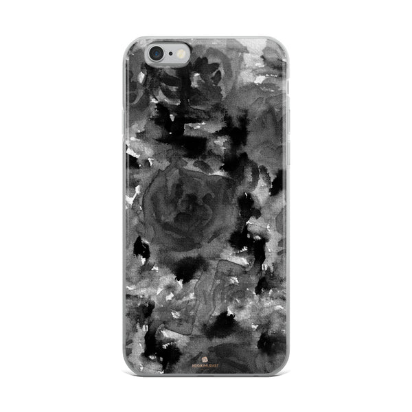 Crow Black Rose Floral, iPhone X | XS | XR | XS Max | 8 | 8+ | 7| 7+ |6/6S | 6+/6S+ Case- Made in USA-Phone Case-iPhone 6 Plus/6s Plus-Heidi Kimura Art LLC