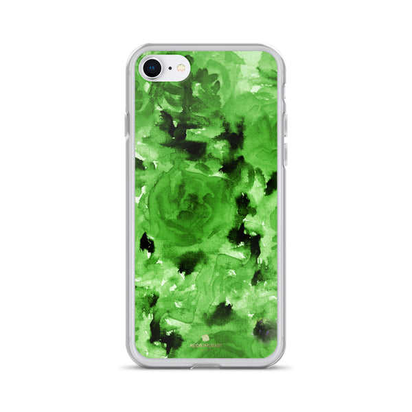 Emerald Green Floral Rose, iPhone X | XS | XR | XS Max | 8 | 8+ | 7| 7+ |6/6S | 6+/6S+ Case- Made in USA-Phone Case-iPhone 7/8-Heidi Kimura Art LLC