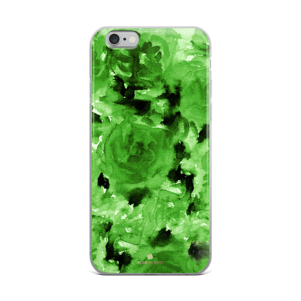 Emerald Green Floral Rose, iPhone X | XS | XR | XS Max | 8 | 8+ | 7| 7+ |6/6S | 6+/6S+ Case- Made in USA-Phone Case-iPhone 6 Plus/6s Plus-Heidi Kimura Art LLC