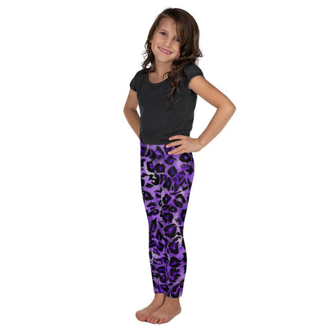 Purple Leopard Animal Print Kid's Leggings, Cute Leopard Tights Pants- Made in USA/EU-Kid's Leggings-Heidi Kimura Art LLC Purple Leopard Kid's Leggings, Cute Leopard Animal Print Purple Black Leopard Animal Print Designer Kid's Girl's Leggings Active Wear 38-40 UPF Fitness Workout Gym Wear Running Tights, Comfy Stretchy Pants (2T-7) Made in USA/EU, Girls' Leggings & Pants, Leggings For Girls, Designer Girls Leggings Tights, Leggings For Girl Child
