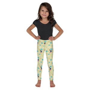 Cute Bird Print Premium Kid's Leggings Running Sports Fitness Tights- Made in USA-Kid's Leggings-2T-Heidi Kimura Art LLC