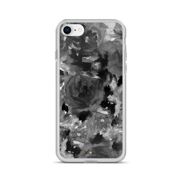 Crow Black Rose Floral, iPhone X | XS | XR | XS Max | 8 | 8+ | 7| 7+ |6/6S | 6+/6S+ Case- Made in USA-Phone Case-iPhone 7/8-Heidi Kimura Art LLC