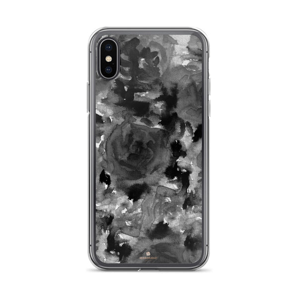 Crow Black Rose Floral, iPhone X | XS | XR | XS Max | 8 | 8+ | 7| 7+ |6/6S | 6+/6S+ Case- Made in USA-Phone Case-iPhone X-Heidi Kimura Art LLC