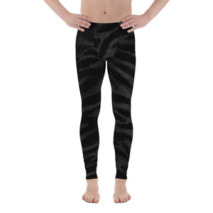 Black Tiger Stripe Men's Leggings, Men's Yoga Pants Running Long Tights- Made in USA/EU-Men's Leggings-XS-Heidi Kimura Art LLC Black Tiger Stripe Meggings, Boss Black Tiger Stripe Animal Print Men's Yoga Pants Running Leggings & Tights- Made in USA/ Europe (US Size: XS-3XL) Tiger Leggings, Tiger Stripe Pants, Tiger Stripe Mens Running Fitness Tight Leggings, Meggings, Tiger Stripe Leggings, Tiger Workout Leggings, Tiger Stripe Print Leggings