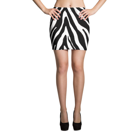 Black White Zebra Animal Print Best Premium Best Women's Mini Skirt- Made in USA/EU-Mini Skirt-XS-Heidi Kimura Art LLC Black White Zebra Mini Skirt, Black White Zebra Animal Print Best Premium Best Mini Skirt- Made in USA/ EU (US Size XS-XL), Zebra Animal Print Skirts for Women, Zebra Print Skirt, Zebra Mini Skirt, Animal Print Skirt