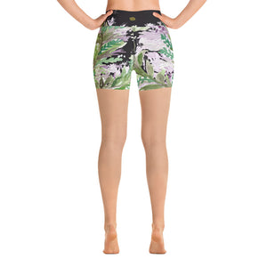 Hakka Purple French Lavender High Waist Floral Print Women's Yoga Shorts,Made in USA(Size:XS-XL)Lavender Shorts,Purple Shorts Yoga Hotpants,Hot Yoga,Made in USA,Cute Shorts,Hippie Shorts,Floral Hot Bootie Pants Shorts   Hakka Purple French Lavender Colorful High Waist Floral Wreath Print Women's Yoga Shorts, Made in USA (US Size: XS-XL) Hakka Purple French Lavender Colorful High Waist Floral Wreath Print Women's Yoga Shorts, Made in USA