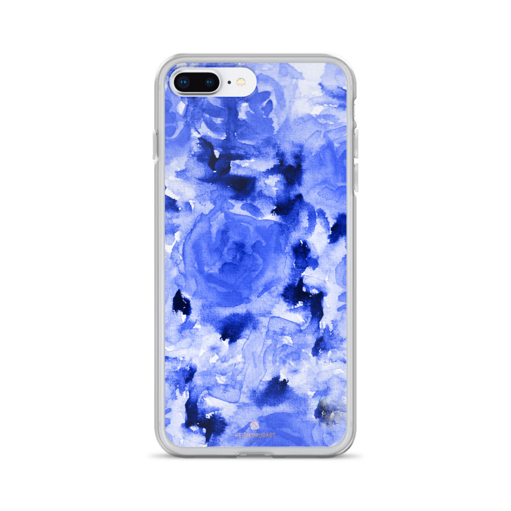 Sapphire Blue Floral Rose, iPhone X | XS | XR | XS Max | 8 | 8+ | 7| 7+ |6/6S | 6+/6S+ Case-Phone Case-iPhone 7 Plus/8 Plus-Heidi Kimura Art LLC