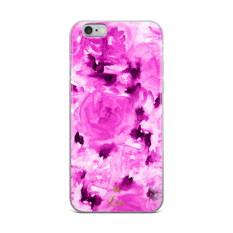 Custom Handwriting Name Personalized Floral Pink Rose Phone case iPhone Case, Made in USA-Phone Case-iPhone 6 Plus/6s Plus-Heidi Kimura Art LLC