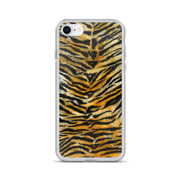 Faux Tiger Stripe Print, iPhone X | 8 | 8+ | 7| 7+ |6/6S | 6+/6S+ Case- Made in USA/Europe-Phone Case-iPhone 7/8-Heidi Kimura Art LLC