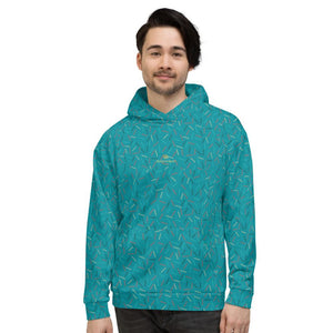 Teal Blue Birthday Sprinkle Print Men's Unisex Hoodie Sweatshirt Pullover- Made in EU-Men's Hoodie-XS-Heidi Kimura Art LLC