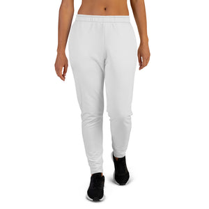 Light Gray Solid Print Designer Women's Joggers Casual Athletic Sweatpants- Made in EU-Women's Joggers-XS-Heidi Kimura Art LLC