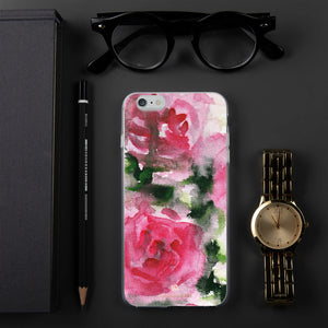 Spring French Pink Princess Rose Floral Print Girlie Cute iPhone Case - Made in USA-Phone Case-iPhone 6 Plus/6s Plus-Heidi Kimura Art LLC