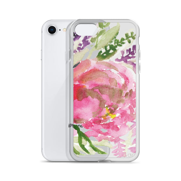 Light Pink Rose Flower Girlie Floral Print, iPhone Cellphone Phone Case- Made in USA-Phone Case-Heidi Kimura Art LLC