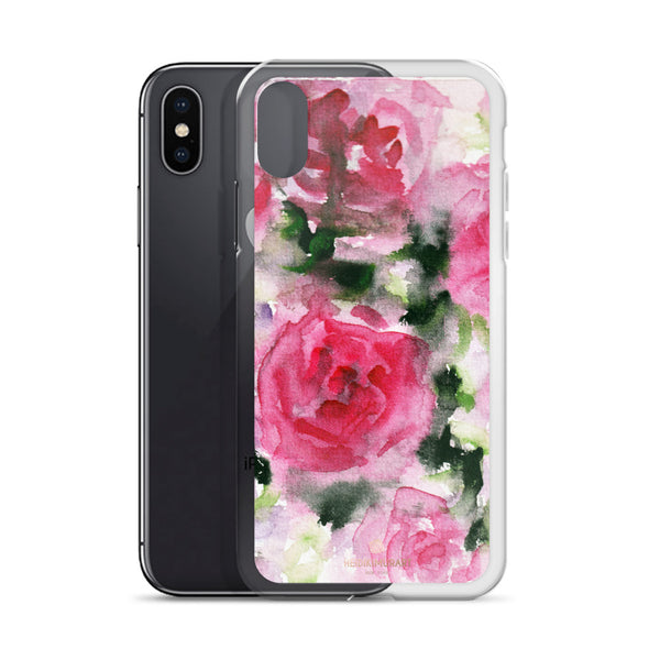 Pink Rose Floral Watercolor, iPhone X | XS | XR | XS Max | 8 | 8+ | 7| 7+ |6/6S | 6+/6S+ Case- Made in USA-Phone Case-Heidi Kimura Art LLC