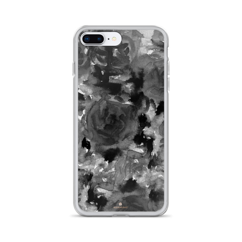Crow Black Rose Floral, iPhone X | XS | XR | XS Max | 8 | 8+ | 7| 7+ |6/6S | 6+/6S+ Case- Made in USA-Phone Case-iPhone 7 Plus/8 Plus-Heidi Kimura Art LLC