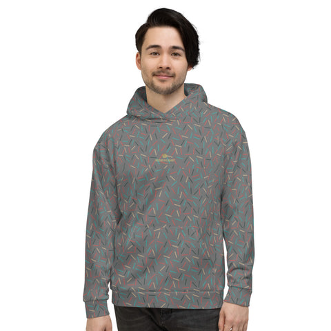 Gray Birthday Sprinkle Print Men's Unisex Hoodie Sweatshirt Pullover Top- Made in EU-Men's Hoodie-XS-Heidi Kimura Art LLC