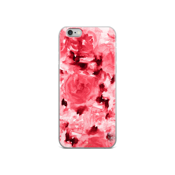Ruby Red Rose Floral, iPhone X | XS | XR | XS Max | 8 | 8+ | 7| 7+ |6/6S | 6+/6S+ Case- Made in USA-Phone Case-iPhone 6/6s-Heidi Kimura Art LLC