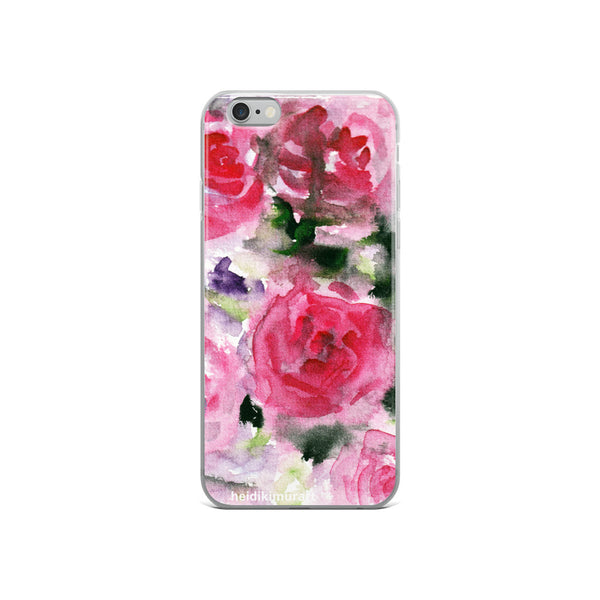 Pink French Rose Bouquet, iPhone X | XS | XR | XS Max | 8 | 8+ | 7| 7+ |6/6S | 6+/6S+ Case- Made in USA-Phone Cases-iPhone 6/6s-Heidi Kimura Art LLC